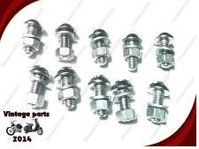 20pc BND NEW ROYAL ENFIELD CHROME DOME FRONT MUDGUARD NUT & BOLT