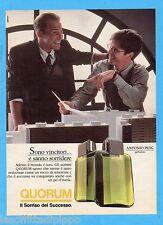 QUATTROR990-PUBBLICITA'/ADVERTISING-1990- QUORUM - PARFUMES