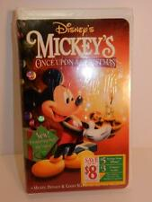 VINTAGE MICKEY'S ONCE UPON A CHRISTMAS WALT DISNEY VHS TAPE VIDEO SEALED MINT
