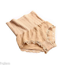 Munafie High Waist Women's Panties (Nude an Black Set of 2)