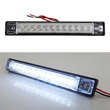 "6""x1"" WHITE LED SLIM LINE LED UTILITY STRIP LIGHTS 12 LEDS RV BOAT"