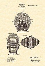 Patent Print - A. C. Williams Company Indian Head Toy Bank - Ready To Be Framed!