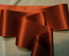 """1-1/2"""" WIDE SWISS DOUBLE FACE SATIN RIBBON - RUST"""