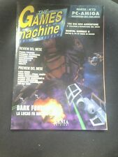 THE GAMES MACHINE 73 Marzo 1995 DARK FORCES MK 2 THE NEED FOR SPEED 146 PAGINE