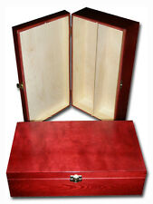 Lacquered Wooden Wine Box with Hinges 2 Bottles Xmas  Christams Gift