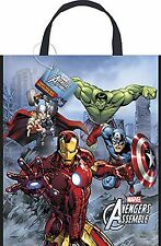 AVENGERS BIRTHDAY PARTY PLASTIC TOTE BAG x 3