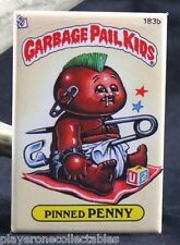 "Garbage Pail Kids Pinned Penny 2"" X 3"" Fridge / Locker Magnet."