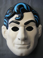 DC COMICS SUPERMAN MAN OF STEEL CLARK KENT SUPERHERO THEME HALLOWEEN PVC MASK