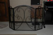 Wrought Iron  Design Folding Fireplace Screen
