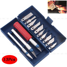13Pcs Exacto Style Hobby Knives Set Fr Multi Purpose Craft Reborning Doll w/Case