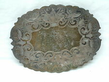 Wallace Silver-plate Double Plate EPC Oval Pierced Trivet # 7310 - Old Design