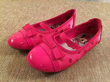 toddler girls DISNEY pink dress shoes NEW size 10.5 10 1/2 NWT flats patent toe
