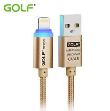 LED Golf USB Cable for iPhone 7 6 6S 5S 5C 5 iPad 4 5 Data Charger Original Lead