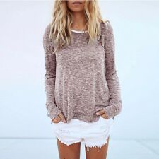 New Fashion Womens Long Sleeve Loose Pullover Ladies Casual Tops T-Shirt Blouse