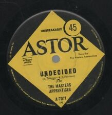 """MASTER'S APPRRENTICES   Rare 1966 Aust Only 7"""" OOP Psych Rock Single """"Undecided"""""""