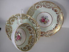 VINTAGE PARAGON PRETTY CHINA CABINET CUP SAUCER PLATE TRIO GILT ENGLISH ROSE