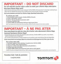 NEW TomTom XXL USA Canada LIFETIME MAP Update Card CODE 530S 535T 540T 550T 540S