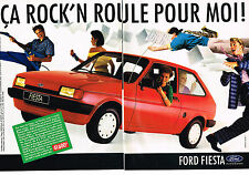 PUBLICITE advertising  1985  FORD  FIESTA  ROCK'N   (2 pages)