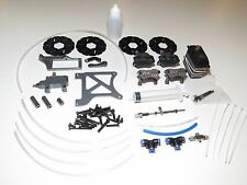 YY KING MOTOR HPI BAJA 5B 5T HYDRAULIC 4 WHEEL BRAKES SET ALUMINUM CARBON RED