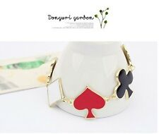 Hot Selling Fashion Punk Style Enamel Playing Cards Chain Bracelet