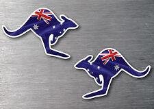 Aussie flag kangaroo stickers 2 pack  7 Year vinyl water & fade proof oz pride