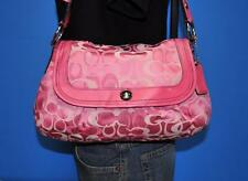 COACH Pink Soho Pleated Optic Signature Leather Jacquard Shoulder Purse 14490