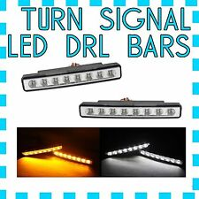 Maserati White  LED DRL Light + Amber Turn Signal Marker- FREE USA SHIPPING