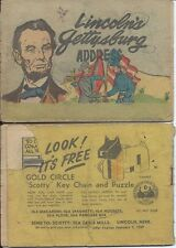 LINCOLN'S GETTYSBURG ADDRESS MINI COMIC IGA 1958 RARE GIVEAWAY PROMO VG-