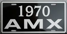 1970 70 AMX METAL LICENSE PLATE AMERICAN MOTORS JAVELIN 390 HURST GO PACKAGE