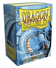 100 PROTECTIVE SLEEVES Blue Blu MTG MAGIC Dragon Shield