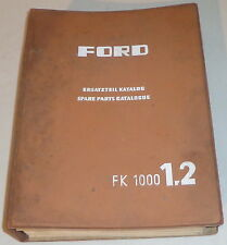 Teilekatalog / Spare parts catalogue Ford Taunus Transit FK 100 1,2