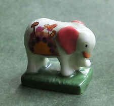 Dolls house miniatures: porcelain elephant - pale green
