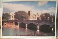Irish Postcard SALMON WEIR BRIDGE River Corrib Galway Ireland Dollard 302 4x6