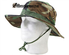 Airsoft Tactical US Marine Military BDU Combat Boonie Cover Hat Woodland Camo