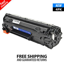 4PK CE285A 85A Black Toner Cartridge for HP LaserJet M1217nfw MFP P1102W