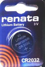 10 piles au lithium RENATA CR2032 Piles récentes  - Qualité Suisse
