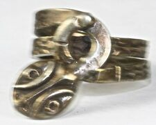 VINTAGE RJP MEXICAN STERLING SILVER SNAKE RING
