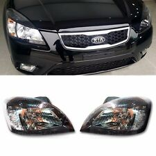 OEM Genuine Parts Black Chrome Head Lamp Light For KIA 2006 - 2011 Rio / Pride