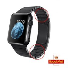 Black 1:1 Bracelet Strap Band For Series 1 & 2 Apple Watch Stainless Steel 42mm