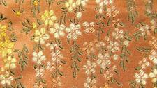 VILLA BOLGHERI MADE IN ITALY SANDY BROWN FLORAL SILK NECKTIE TIE MDE1416B #C08