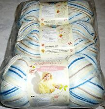 Bernat SOFTEE BABY Yarn Lot of 3 - LITTLE BOY BLUE (blues, yellow, tan, white)