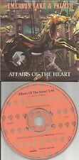 EMERSON LAKE & PALMER Affairs of the heart PROMO DJ CD single 1992 USA and MINT