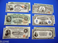 "Starter Set Number 4 ""DEUCES"" - 6 Replica U.S. Currency Paper Money Copy"