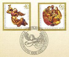 Berlino 1989: Marche di natale n. 858+859 con pulito solo tag-timbro speciale!