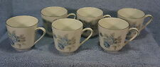 "Hutschenreuther Alicia Blue Rose  2 7/8"" Coffee Cups -Lot of 6 Cups"
