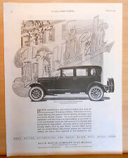 1924 magazine ad for Buick - Six Cylinder 5 passenger Brougham Sedan