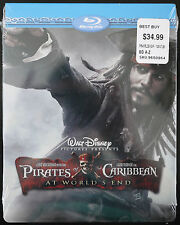 *NEW* WALT DISNEY PIRATES OF THE CARIBBEAN AT WORLD'S END BLU-RAY STEELBOOK OOP