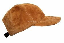 New BASEBALL Cap Tan Suede Golf Mens Ladies Real Leather HipHop Cap Hat