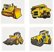 36 Fun Assorted Construction Vehicle Kids Temporary Tattoos #13679925