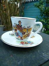 Tasse et sous-tasse a café porcelaine  dinette de poupée jouet ancien années 30